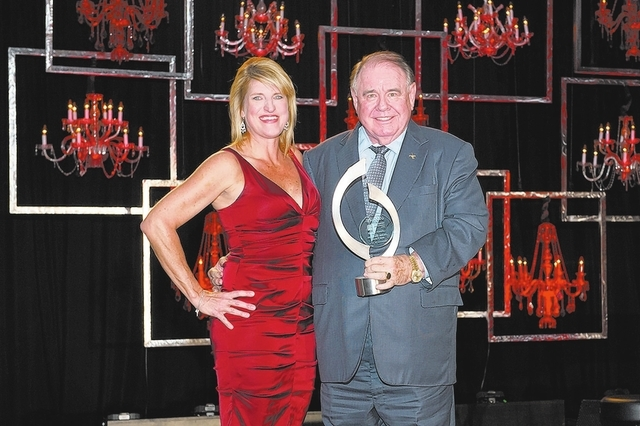 Las Vegas Hospitality Association president Tami Hance and Michael Gaughan
