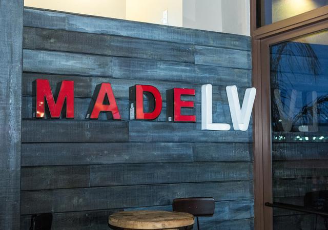 Made L.V. restaurant in Tivoli Village at Rampart Boulevard and Alta Drive in Las Vegas is shown Saturday, Nov. 1, 2014. (Donavon Lockett/Las Vegas Review-Journal)