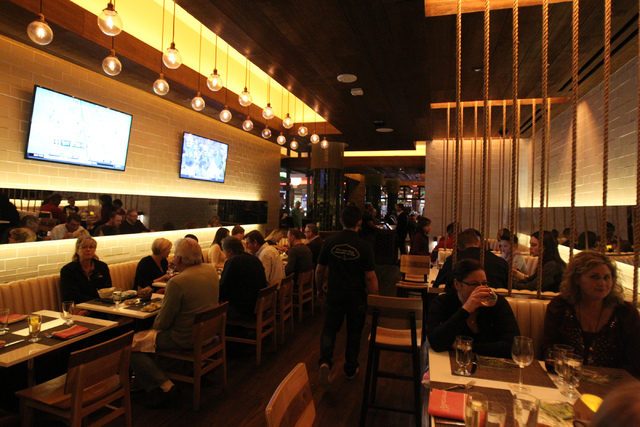 The dining room at Mercadito restaurant inside Red Rock Resort in Las Vegas is seen during dinner service Saturday, Nov. 22, 2014. (Erik Verduzco/Las Vegas Review-Journal)