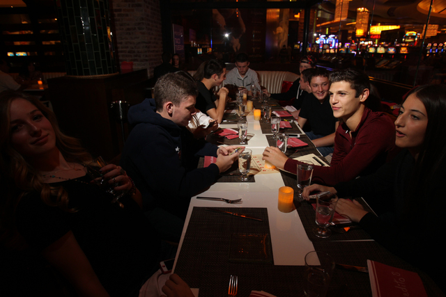 Customers dine at Mercadito restaurant inside Red Rock Resort in Las Vegas Saturday, Nov. 22, 2014. (Erik Verduzco/Las Vegas Review-Journal)