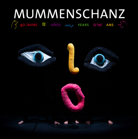 """The poster for Mummenschanz's """"40 Years"""" tour features some of the Swiss mime troupe's trademarks, including expressive rolls of toilet paper and brightly colored, endlessly flexible tubes. Courte ..."""