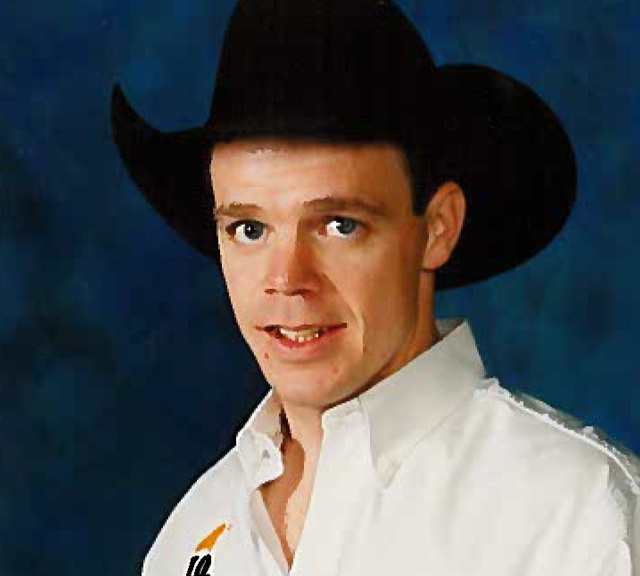 An undated publicity photo provided by the Professional Rodeo Cowboys Association shows Brent Thurman, who has a frontage road in Las Vegas named for him. Thurman is the only competitor in the Nat ...