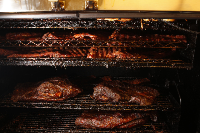 The meat smoker inside Pot Liquor C.A.S. at Town Square in Las Vegas is seen on Saturday, Nov. 15, 2014. (Erik Verduzco/Las Vegas Review-Journal)