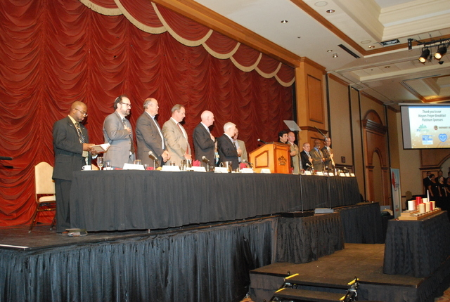 The 2014 Mayors Prayer Breakfast, an interfaith celebration bringing together community leaders and more than 400 high school students to encourage unity, diversity and leadership skills for Las V ...