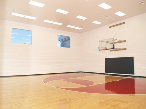Courtesy photo The home has a half-court basketball court.