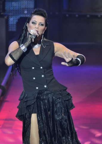 "Carol-Lyn Liddle performs during ""Raiding the Rock Vault"" in the showroom at the Tropicana hotel-casino at 3801 Las Vegas Blvd., South, in Las Vegas on Saturday, Nov. 8, 2014. (Bill Hugh ..."