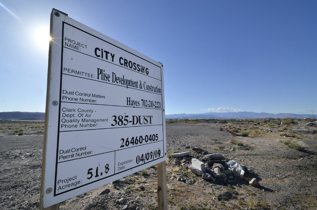 A vacant lot for a proposed housing development is shown on the southwest corner of St. Rose Parkway and Executive Airport Drive in Henderson on Wednesday, March 12, 2014. (Bill Hughes/Las Vegas R ...