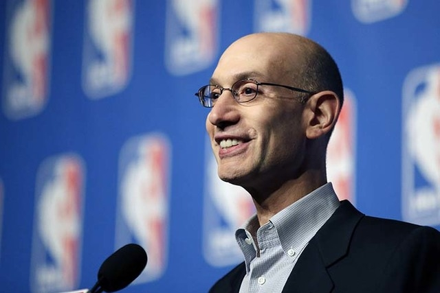 NBA Commissioner Adam Silver says fans should have a safe and legal way to gamble on professional games. (AP Photo/John Locher)
