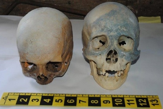 Two human skulls and cult items were found in a deceased man's house in Connecticut recently. (Stamford Police Department)