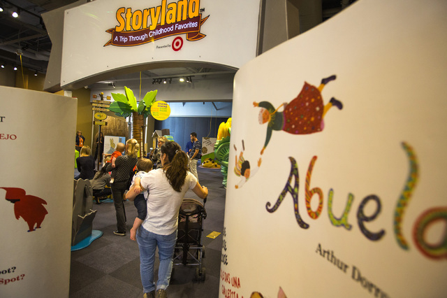 "The ""Storyland: A Trip Through Childhood Favorites,"" exhibit is seen Friday, Nov.14, 2014 at the Discovery Museum,360 Promenade Place. The  touring exhibit runs through Jan. 4.    (Jeff  ..."