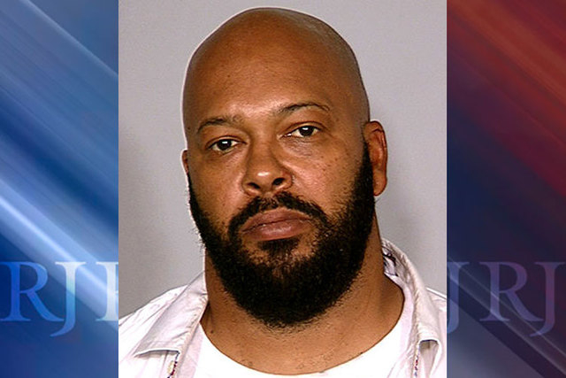 """Rap music mogul Marion """"Suge"""" Knight is shown in 2008. Knight was arrested Wednesday, Oct. 29, 2014, in Las Vegas in connection with a California robbery. (AP Photo/Las Vegas Metropolitan Police D ..."""