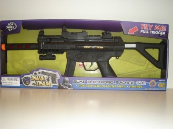 """""""SWAT Electric Machine Gun"""" by Junxing Toys Industrial Co. (Courtesy W.A.T.C.H.)"""