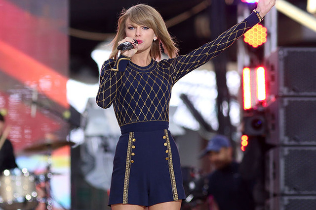"Taylor Swift performs on ABC's ""Good Morning America"" in Times Square in New York. The music streaming service Spotify is no longer offering Taylor Swift songs at her request, setting up a battle  ..."