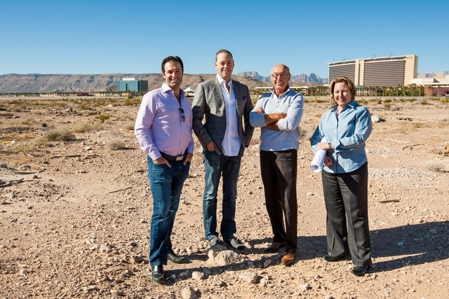 Douglas Eisner, co-founder and managing director, The Calida Group; Eric Cohen, co-founder and managing director, The Calida Group; Kevin T. Orrock, president, Summerlin; and Julie Cleaver, vice p ...