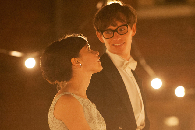 "Felicity Jones stars as Jane Wilde and Eddie Redmayne stars as Stephen Hawking in ""The Theory of Everything."" (Liam Daniel/Focus Features)"