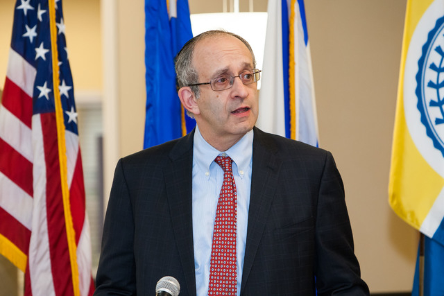 President and CEO of Touro College and University System Dr. Alan Kadish speaks at the Touro Active Aging and Health Center grand opening Sept. 11, 2014, in Henderson. (Monda Shield Payne/Special  ...