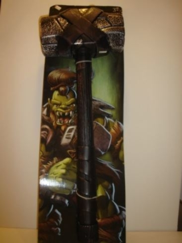 """""""True Legends Orcs Battle Hammer"""" sold at Toys R Us. (Courtesy W.A.T.C.H.)"""