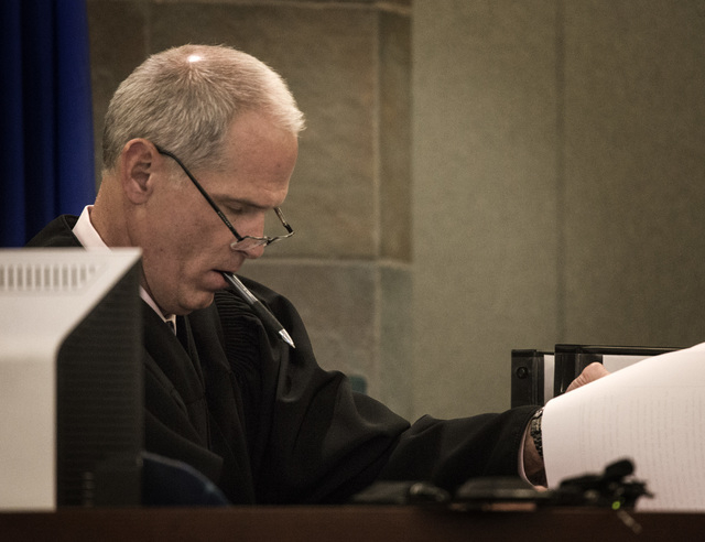 District Court Judge Doug Herdon during a hearing Monday, Nov.17, 2014 to determine whether ride-sharing company Uber  can operate in Clark County. The judge scolded the state attorney general's o ...