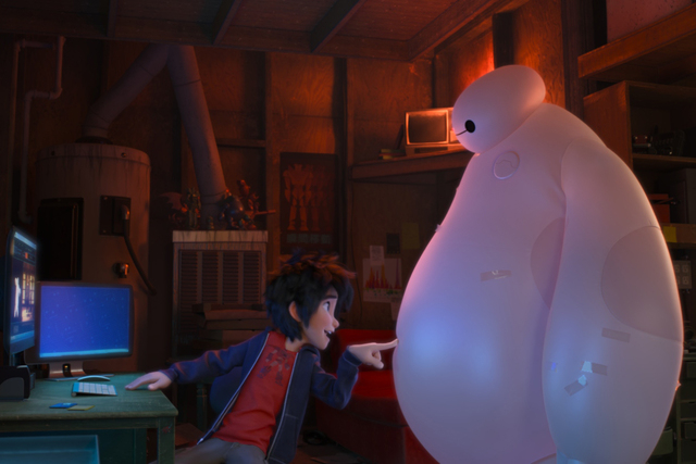 """""""BIG HERO 6"""" Pictured (L-R): Hiro, Baymax. ©2014 Disney. All Rights Reserved."""