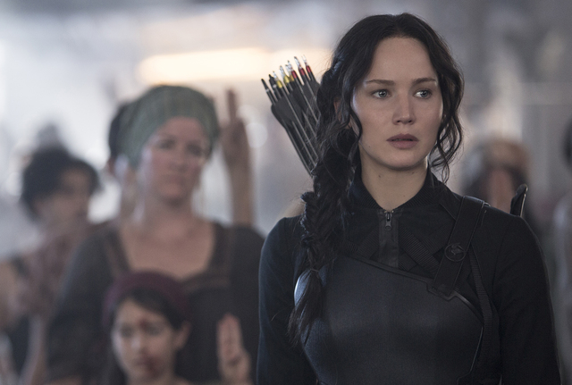 Jennifer Lawrence stars as Katniss Everdeen in 'The Hunger Games: Mockingjay — Part 1.' (Courtesy/Murray Close)
