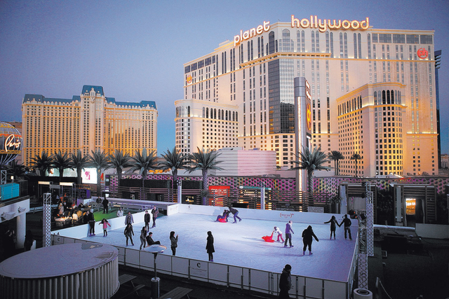 People Skate At An Ice Rink The Cosmopolitan Of Las Vegas Wednesday Dec