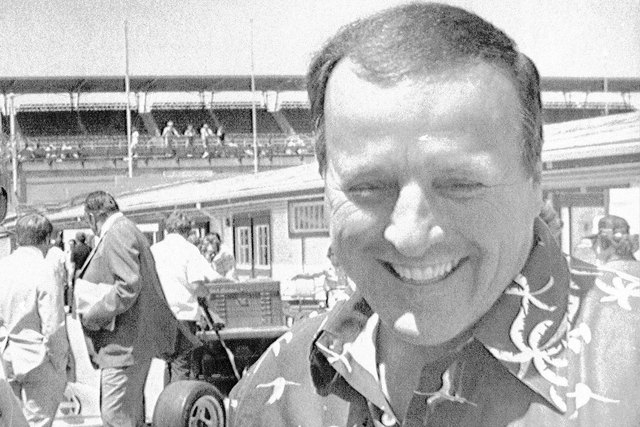 Four-time Indianapolis 500 winner A.J. Foyt arrives at the Indianapolis Motor Speedway on Monday, May 7, 1979. (File, Associated Press)