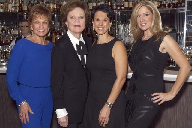 Barbara Stout, from left, Debbie Swissman, Caroline Ciocca and Kimberly Gora attend the Make-A-Wish luncheon (Marian Umhoefer/Las Vegas Review-Journal)