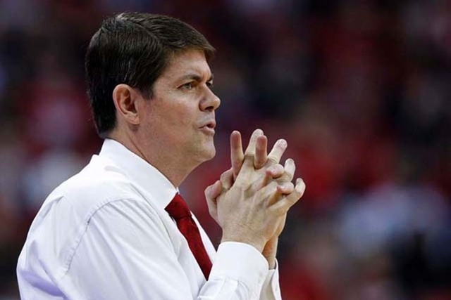 UNLV head coach Dave Rice reacts during a Nov. 17, 2012, game against Jacksonville State at the Thomas & Mack Center. (File, Las Vegas Review-Journal)