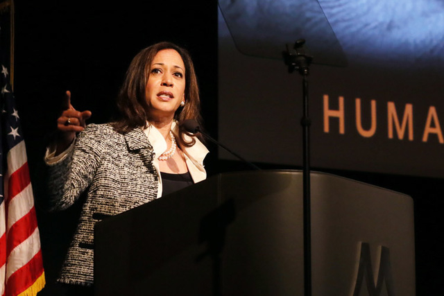 """California Attorney General Kamala Harris issued a lengthy """"consumer alert"""" Tuesday, saying changes of the magnitude Obama announced often invite con artists. (Photo by Alexandra Wyman/Invisio ..."""