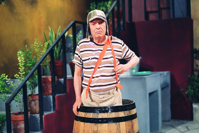 In this undated photo released by the television network Televisa on Friday, Nov. 28, 2014, Mexican comedian Roberto Gomez Bolanos poses for a photo as his famous character El Chavo del Ocho. Acco ...