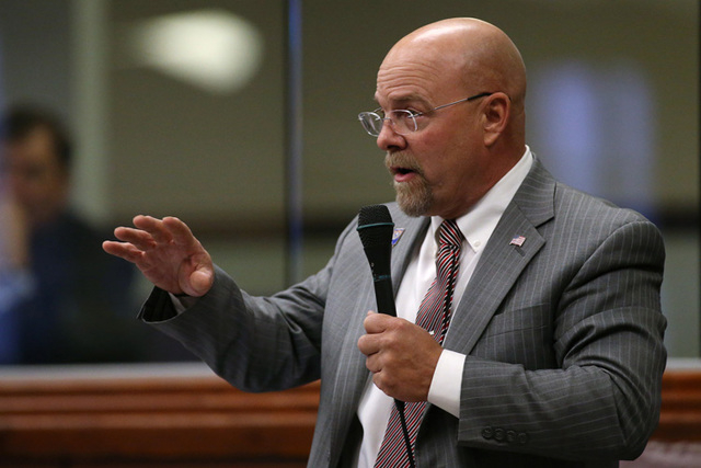Nevada Assemblyman Ira Hansen, R-Sparks, will formally take over from Speaker Marilyn Kirkpatrick, D-North Las Vegas, in February when the session begins. (AP Photo/Cathleen Allison)