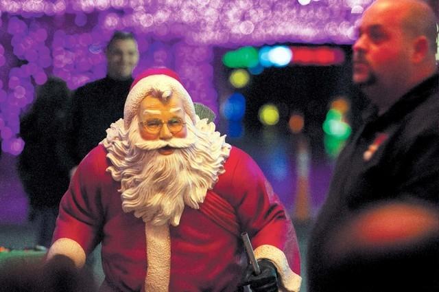 A Santa Claus statue is seen during the Glittering Lights show event held at the Las Vegas Motor Speedway, Thursday, Nov. 14, 2013. (Erik Verduzco/Las Vegas Review-Journal)