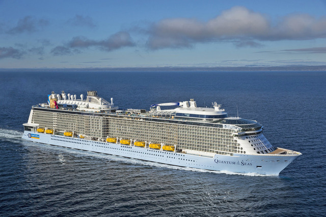 Quantum of the Seas is a third of the size of Royal Caribbean's Oasis class ships. (Courtesy)