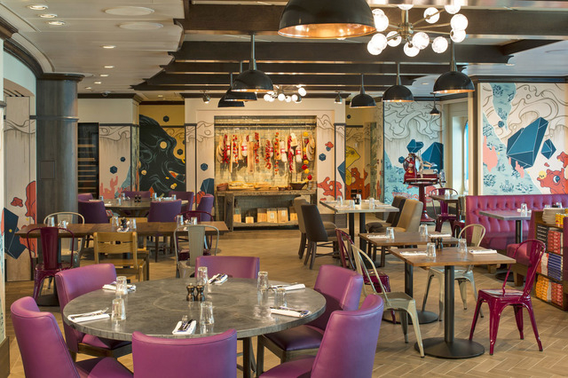 There's no escaping celebrity chef restaurants. Not even at sea. Among Quantum's 18 restaurants is Jamie's Italian, by Jamie Oliver. (Courtesy)