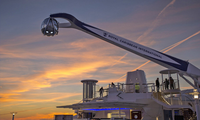 North Star lifts passengers 300 feet above sea level to offer stunning views of the ocean, ship and whatever destinations you happen to be sailing to. (Courtesy)