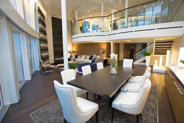 Quantum's Royal Loft suite is the top accommodation available on any Royal Caribbean ship. It comes with a dedicated concierge and private whirlpool. (Courtesy)
