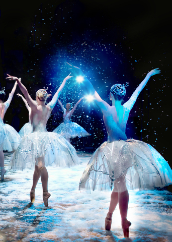 "Waltz of the Snowflakes, the first act finale of Nevada Ballet Theatre's ""The Nutcracker,"" which opens Saturday at The Smith Center. Photo credit: Virginia Trudeau. Courtesy photo from Nevada Ball ..."