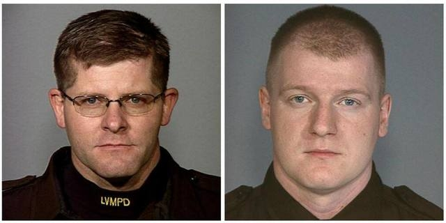 Las Vegas Metro identified Two Las Vegas police officers, Alyn Beck (left) and Igor Soldo (right), who were killed Sunday in an apparent ambush attack at CiCi's Pizza, 309 N. Nellis Boulevard, a ...