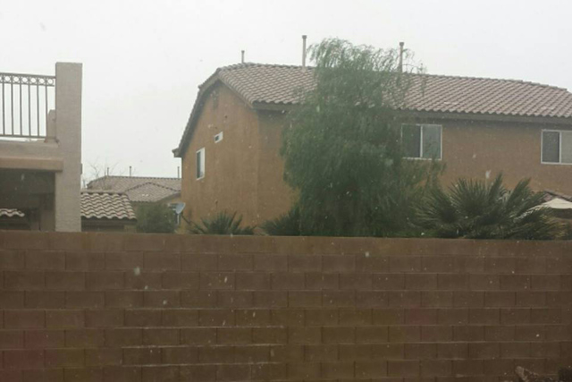 A few flakes in the valley. Courtesy (Alainia Andreas/Facebook)