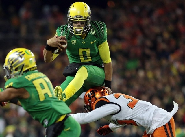 If Tampa Bay gets the No. 1 pick in the NFL Draft, Heisman Trophy winner Marcus Mariota appears to be the logical pick. All the Buccaneers have to do is lose Sunday to New Orleans. The Oregon Duck ...