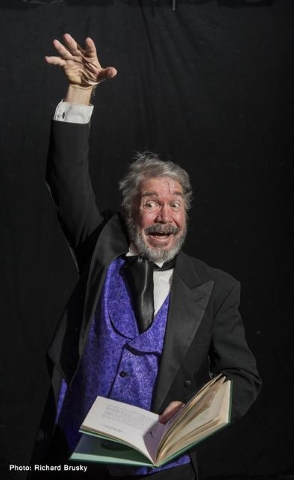 """Actor Byron Tidwell plays Charles Dickens in a one-man """"Christmas Carol"""" that opens at the Onyx Theatre Friday and closes Dec. 28. It may be the final production at the intimate Commercial Center  ..."""