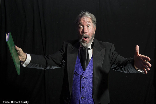 """Actor Byron Tidwell channels Charles Dickens in a solo performance of """"A Christmas Carol"""" at the Onyx Theatre. (Courtesy photo)"""