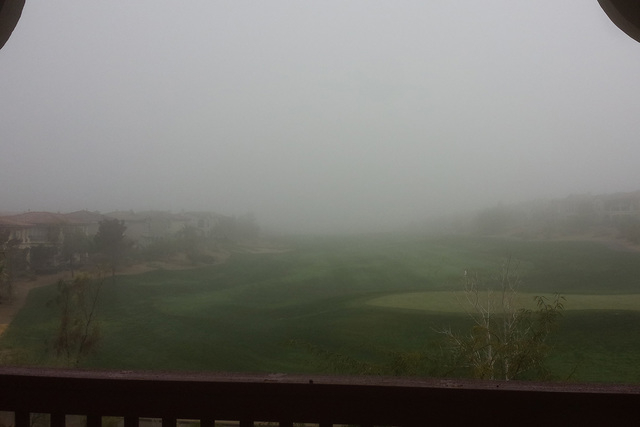 Fog seen from Red Rock Country Club on Wednesday, Dec. 3, 2014. (Submitted via At the Scene/Rachel Casper)