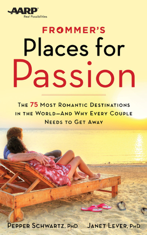 This image provided by Frommers shows the cover of Places for Passion: The 75 Most Romantic Destinations in the World, by Pepper Schwartz and Janet Lever. The book offers inspiration for couples g ...