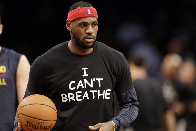 Magic Johnson praises athletes who wore 'I can't breathe' shirts ...
