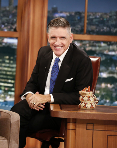 """In this Dec. 15, 2014 photo released by CBS, host Craig Ferguson appears on the set of """"The Late Late Show with Craig Ferguson,"""" in Los Angeles. Ferguson's final show will be on Friday.  ..."""