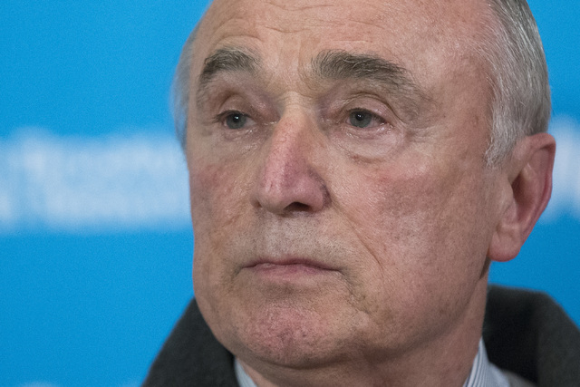 New York Police Department Commissioner Bill Bratton pauses at the podium during a news conference at Woodhull Medical Center, Saturday, Dec. 20, 2014, in New York.  An armed man walked up to two  ...
