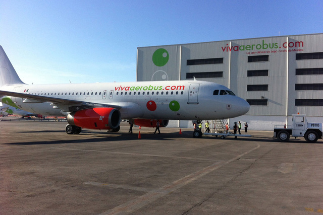 When Mexican discount air carrier VivaAerobus left the Las Vegas market in January 2013, it vowed to return when economic conditions improved. On Friday, the airline delivered.(Courtesy VivaAerobus)