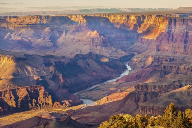 The Colorado River flows through the Grand Canyon. (Thinkstock)
