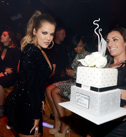 Khloe Kardashian hosts at 1 OAK Nightclub at the Mirage Las Vegas on December 30, 2014 in Las Vegas, Nevada.  (Photo by Denise Truscello/WireImage)